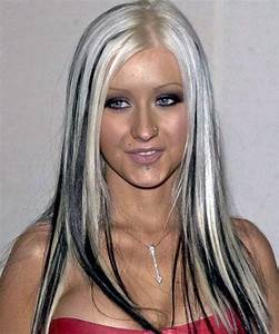 Hair Color Black With Blonde Streaks Style