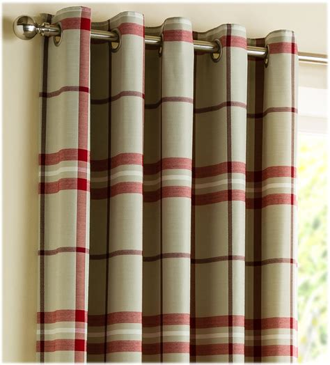 How To Measure For Cafe Curtains by Ready Made Curtains Lomond Red Tartan Check Ready Made