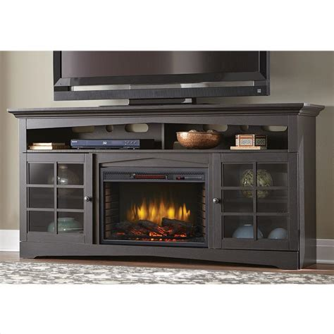 tv cabinet with fireplace home decorators collection avondale grove 70 in tv stand 6412