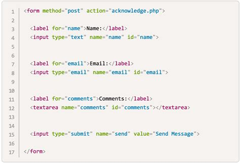 send email from a web form with php