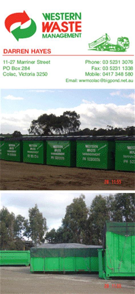 western waste management colac victoria darren hayes