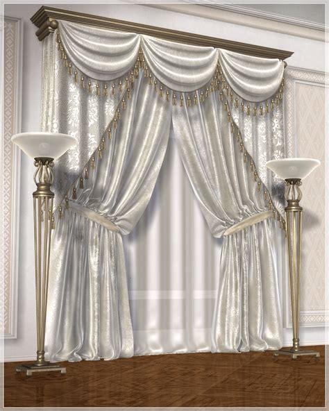 classic curtains set1 3d models grayclouddesign