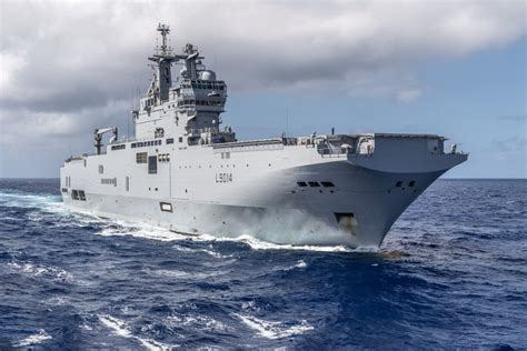 French Navy helicopter carrier Tonnerre departs for Beirut ...
