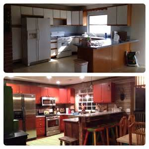 before and after rust oleum cabinet transformations color cabernet glazed home ideas
