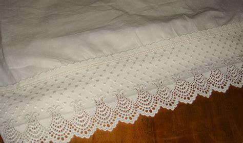 charisma fieldcrest lace classic dot white twin flat sheet