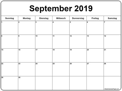 september kalender drucken