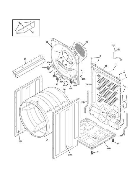 frigidaire gas dryer parts model faqgkw sears