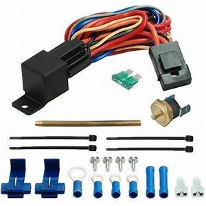 190 U0026 39 F Electric Fan Temperature Thermostat Switch Kit Push