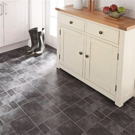 Self Adhesive Floor Tiles Grey Stone Effect   Tiling