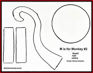 Letter M Monkey