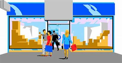 Mall Clipart Shopping Illustration Animated Transparent Center