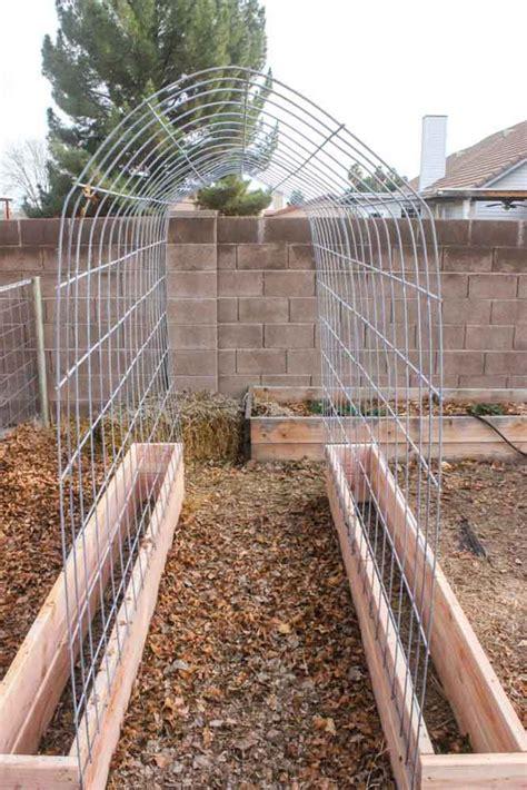Garden Trellis by Diy Trellis Raised Garden Box Combo Home Design