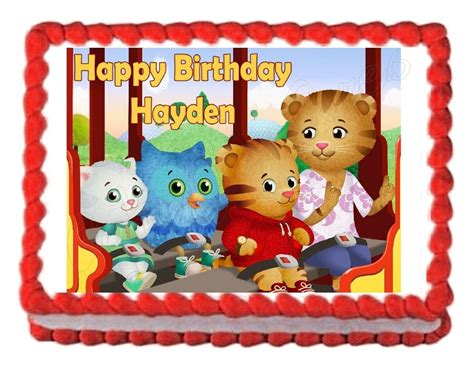 daniel tigers neighborhood edible party cake topper