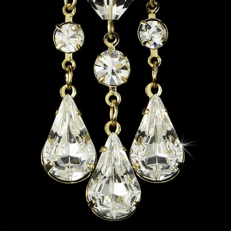 gold bridal chandelier earrings e 8318