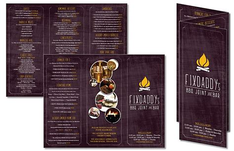 8 5 X 11 Folded 6 Page Brochure Template Adobe Tri Fold Flyer Brochure 8 5x11 4 Pt Gloss Text