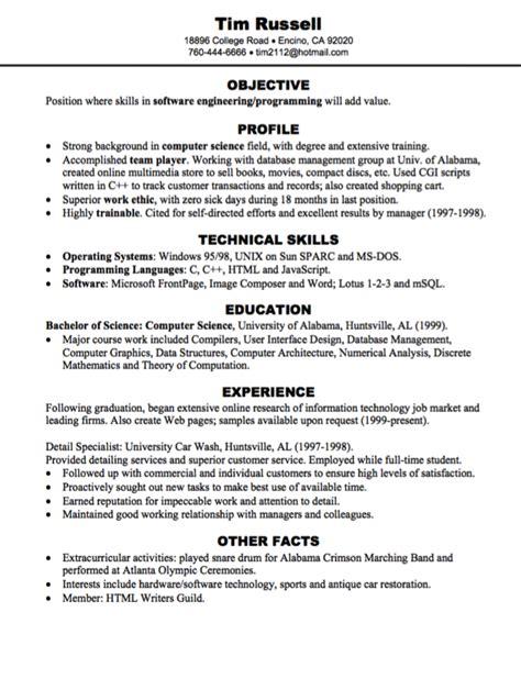 software engineering programming resume sle http