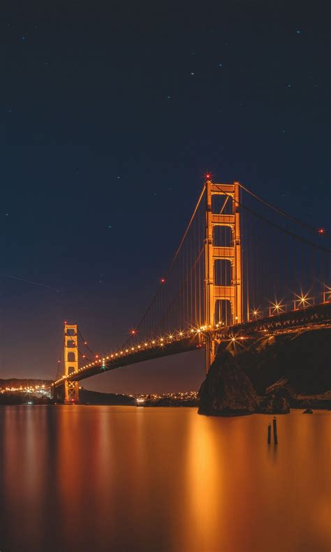 golden gate bridge night san francisco  wallpapers hd