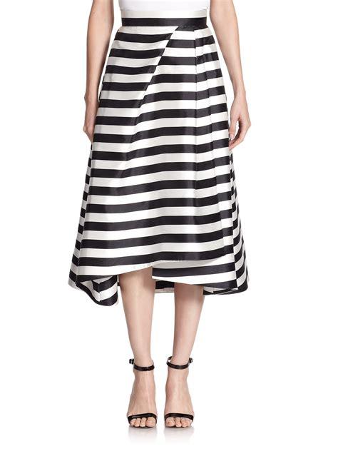 asymmetrical striped skirt nicholas striped midi skirt in black lyst