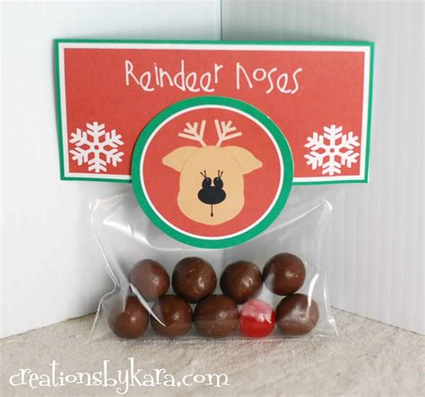 reindeer noses christmas party favors easy gift reindeer noses