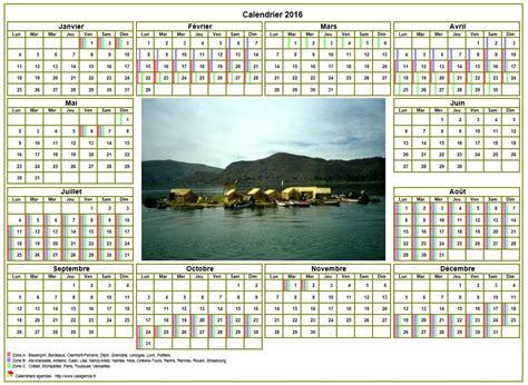 calendrier 2016annuel avec photo agenda synth 233 tique format paysage sous ou mural