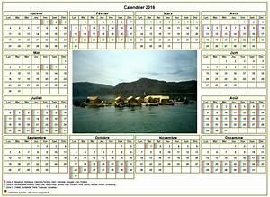 Calendrier Photo Mural : calendrier 2016annuel avec photo agenda synth tique ~ Nature-et-papiers.com Idées de Décoration