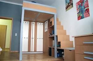 Hochbett Mit Schrank Für Erwachsene : hochbett mit schreibtisch und schrank bucherregal treppe ~ Watch28wear.com Haus und Dekorationen