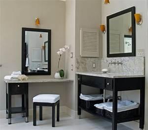 Meuble Salle De Bain Noir Et Bois : salle de bain taupe 35 id es d 39 am nagement avec un mobilier zen ~ Teatrodelosmanantiales.com Idées de Décoration