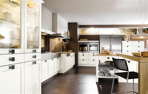 brown white kitchen design stylehomesnet