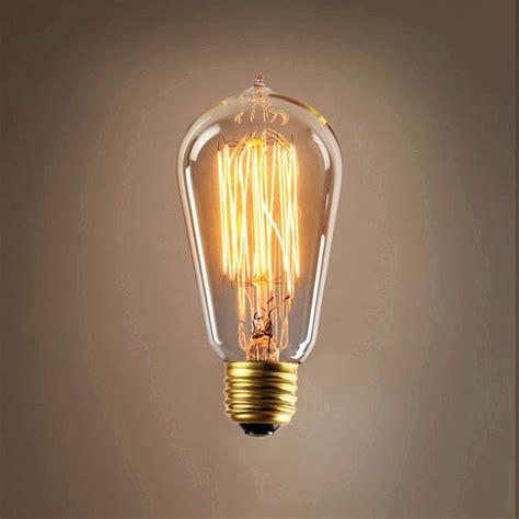 e27 cob vintage antique edison style led clear glass light