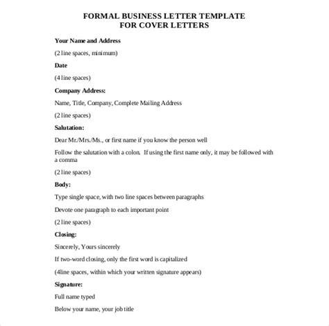formal letter template word  formal letter template