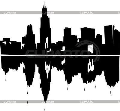 chicago skyline stock vector graphics cliparto