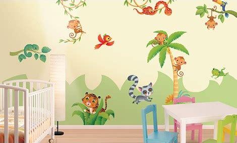 chambre theme jungle stickers savane stickers chambre bébé leostickers