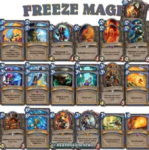 hearthstone deck freeze mage hearthstone news freeze decks and plays