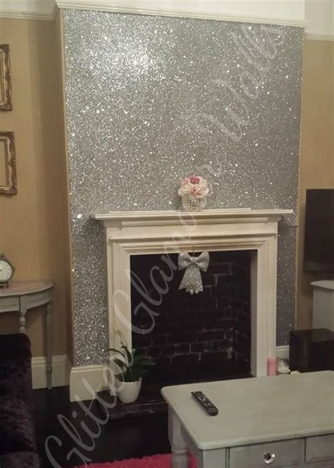 silver glitter wallpaper  walls gallery