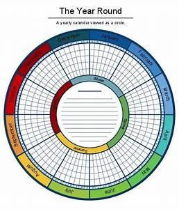 a circular calendar makes planning your year pretty a With circular calendar template