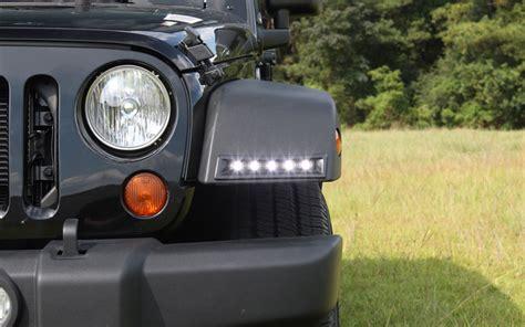 jeep wrangler led lights jeep wrangler led daytime running light system now available