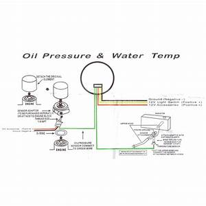 Black Electronic Water Temperature And Oil Pressure Dual Gauge With 60mm Cup 4wd 9338843010056