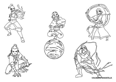 Avatar Legend Of Korra Coloring Pages