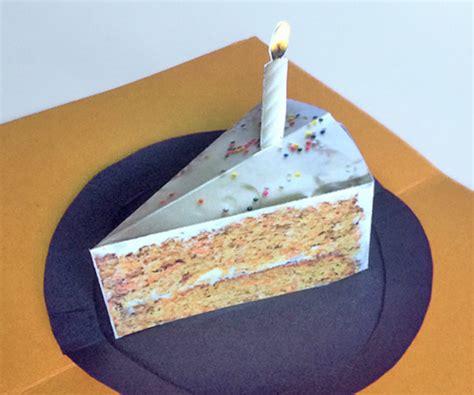 slice  cake printable pop  card   occasions