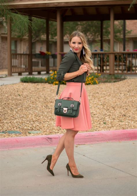Transitioning Into Fall Olive Green And Salmon Pink