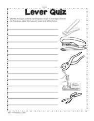 lever worksheets grade 3 lever worksheets