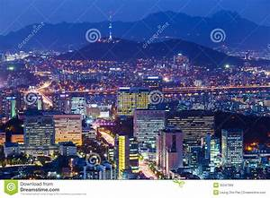 Seoul Skyline At Night Royalty Free Stock Images