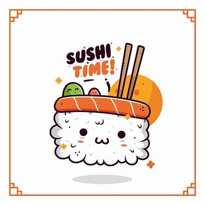 Sushi Kawaii Vector Clipart Graphics Vectors