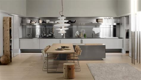 cuisine bois et metal cuisine escamotable design en bois clair en metal