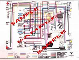 Wiring Harness Diagram Full Color  Laminated 11 U2033 X 17 U2033 For