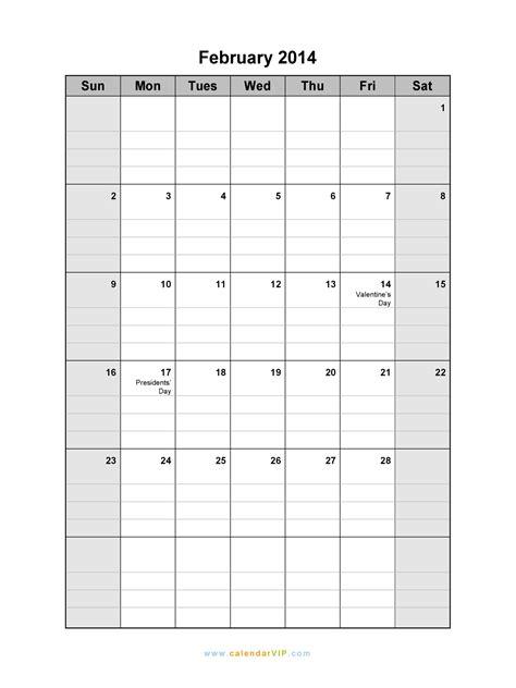 february calendar blank printable calendar template word