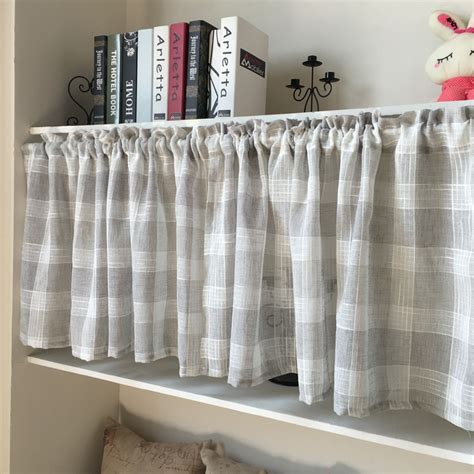 stripe kitchen curtain short sheet curtain   kitchen