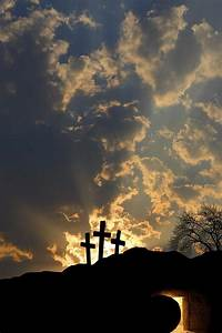Empty Tomb And Three Crosses Photograph by Colette Scharf
