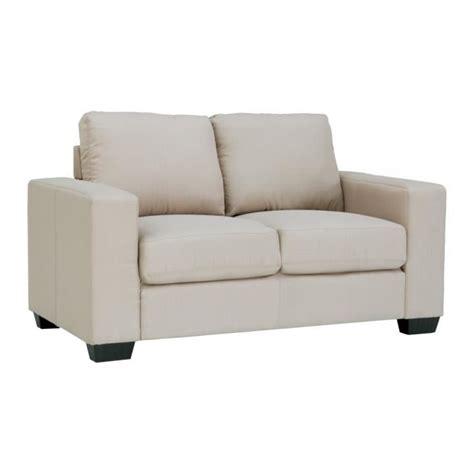 canapé 2 places tissu beige achat vente canapé sofa