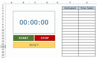 Excel Template Stopwatch Templates Toastmasters Userform Word